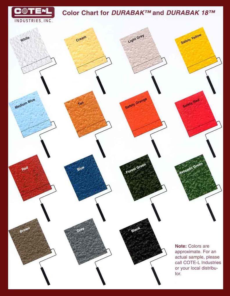 Color chart for durabak color chart for durabak nvjuhfo Images